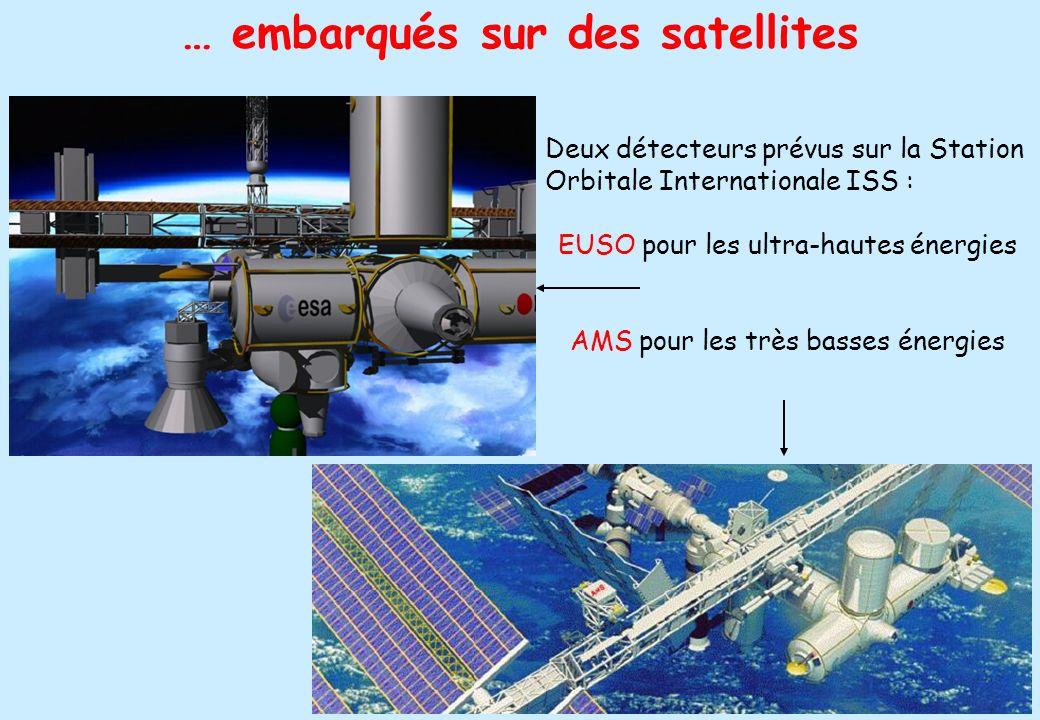 … embarqués sur des satellites