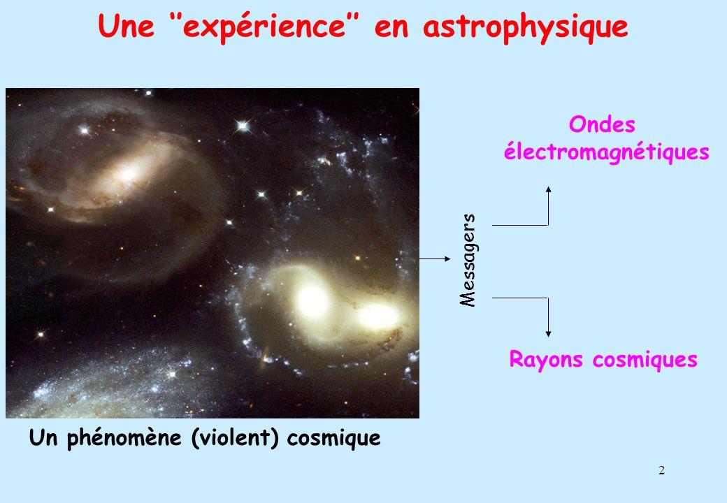 Une ''expérience'' en astrophysique