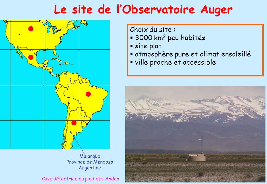 Le site de l'Observatoire Auger
