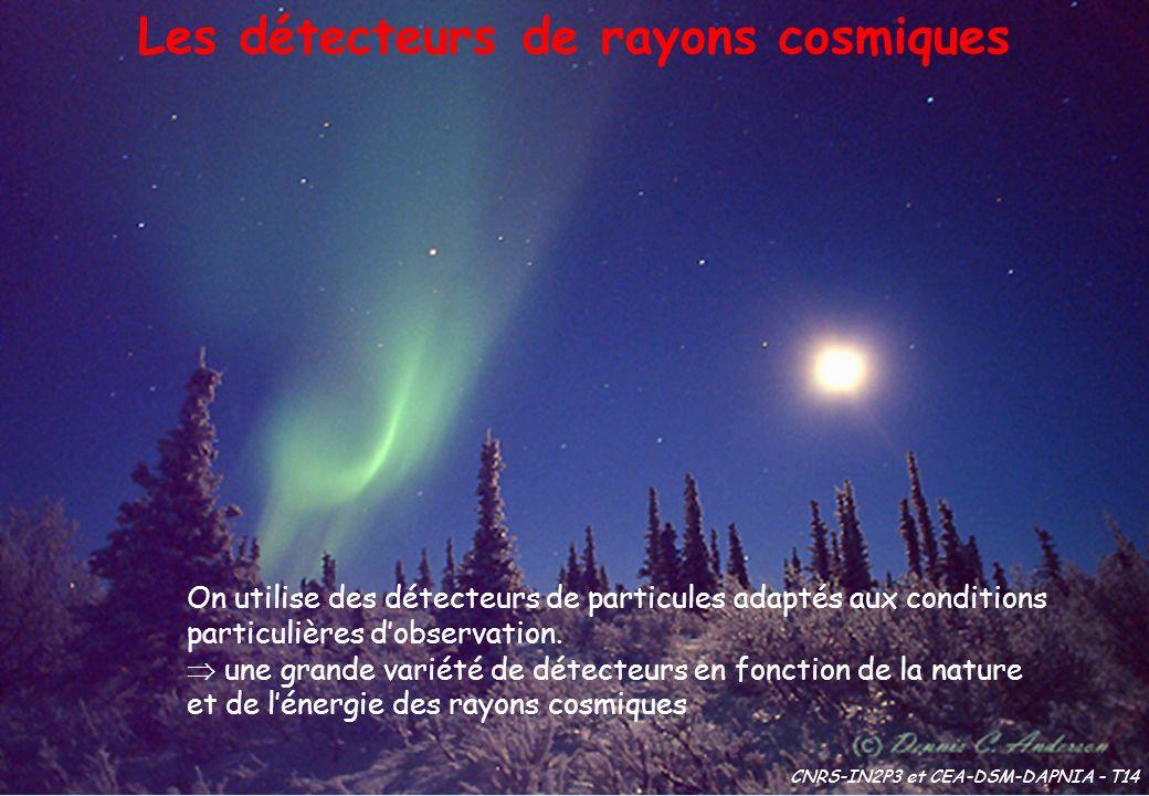 Les détecteurs de rayons cosmiques