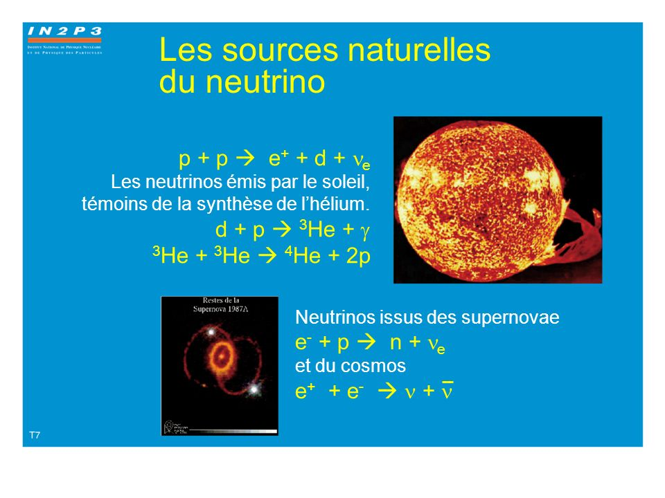 Les sources naturelles du neutrino