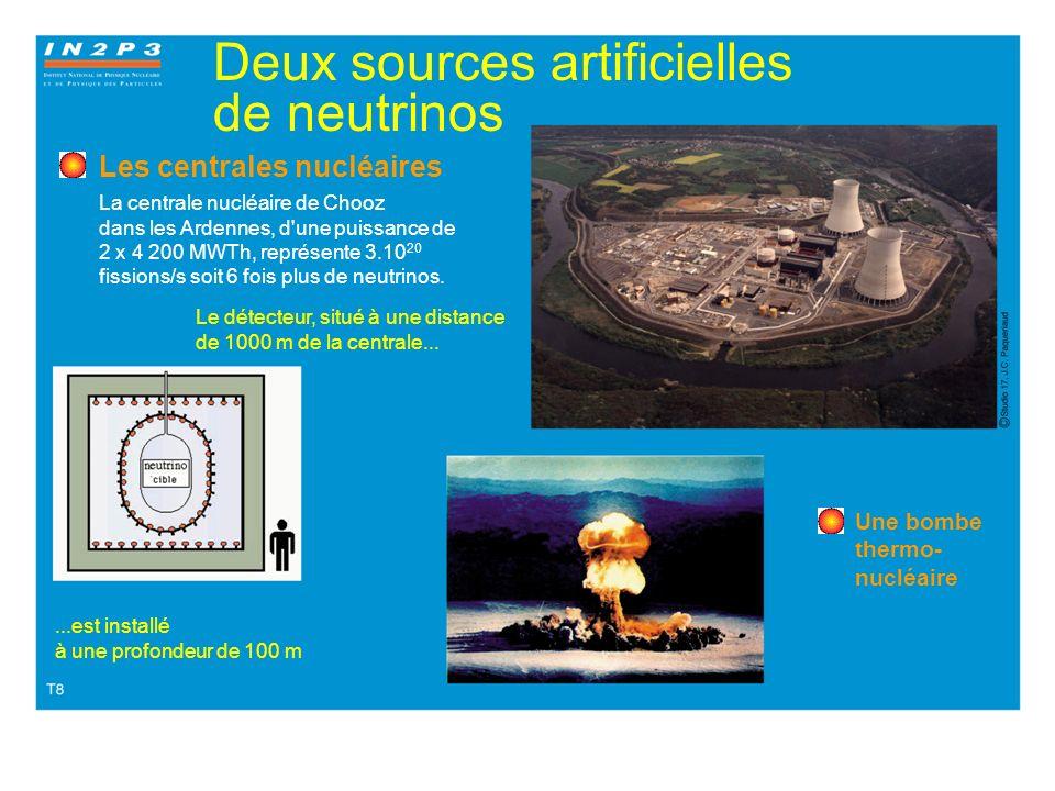 Deux sources artificielles de neutrinos