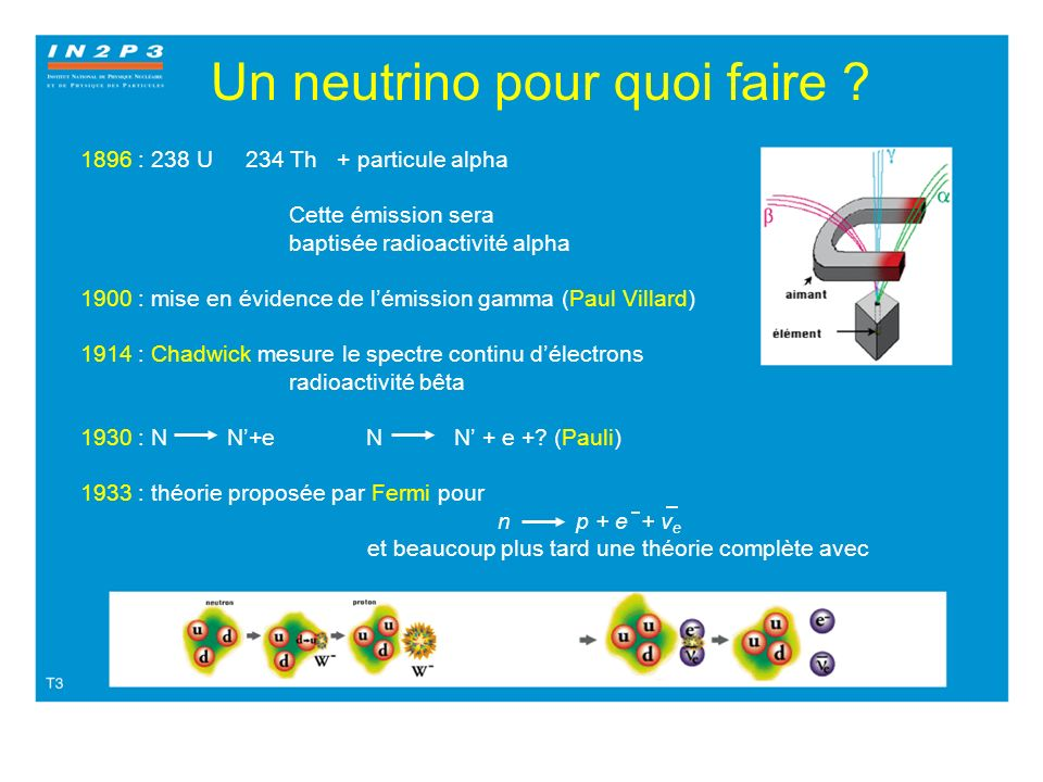 Un neutrino pour quoi faire