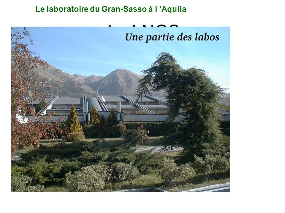 Le laboratoire du Gran-Sasso à l 'Aquila