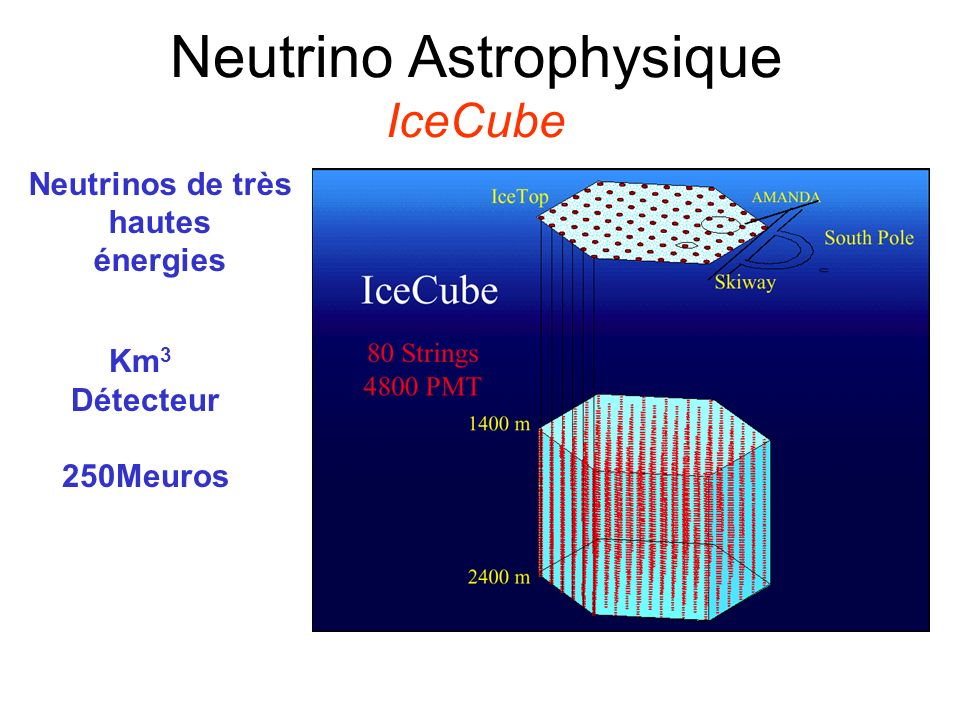 Neutrino Astrophysique IceCube