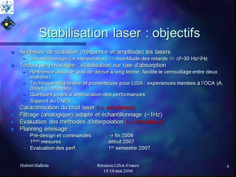 Stabilisation laser : objectifs