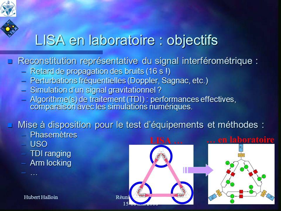 LISA en laboratoire : objectifs