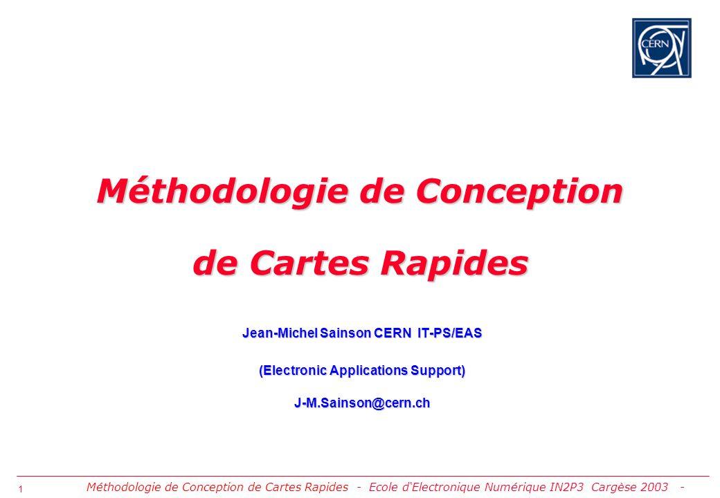 Méthodologie de Conception de Cartes Rapides