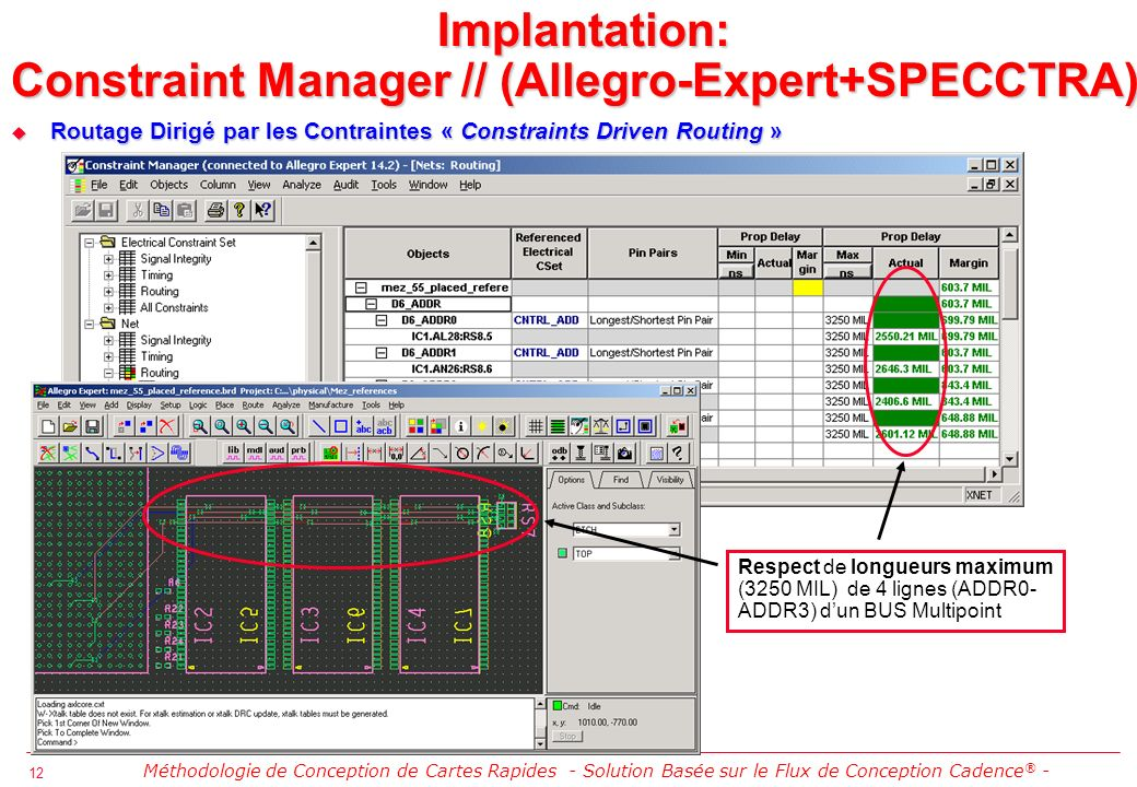 Implantation: Constraint Manager // (Allegro-Expert+SPECCTRA)