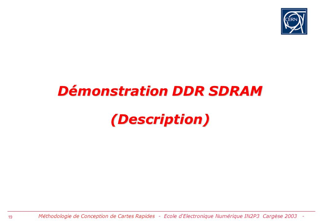 Démonstration DDR SDRAM (Description)