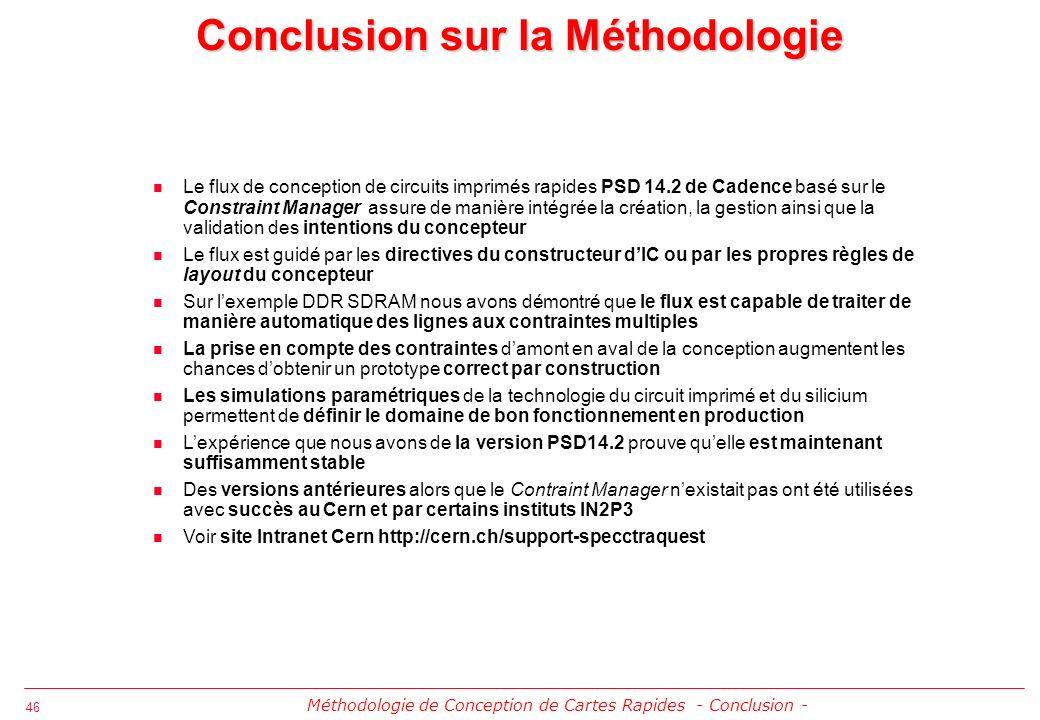 Conclusion sur la Méthodologie