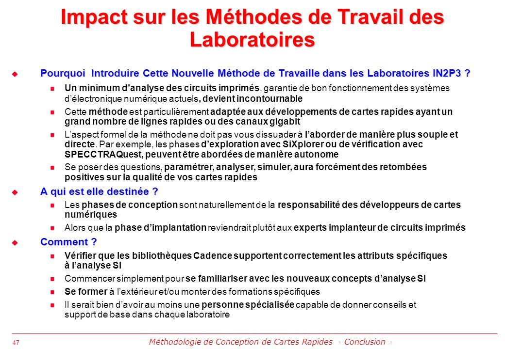 Impact sur les Méthodes de Travail des Laboratoires