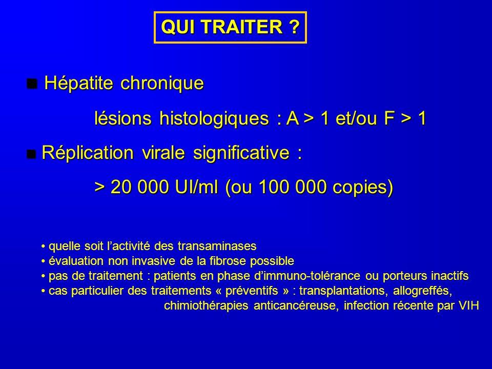 Hépatite chronique QUI TRAITER