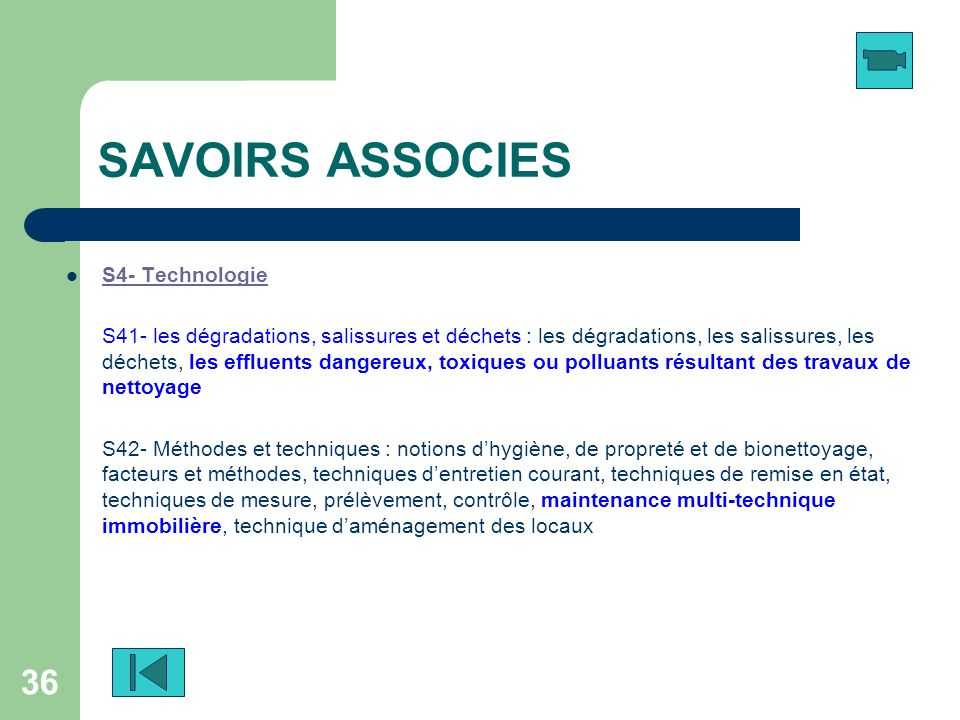 SAVOIRS ASSOCIES S4- Technologie
