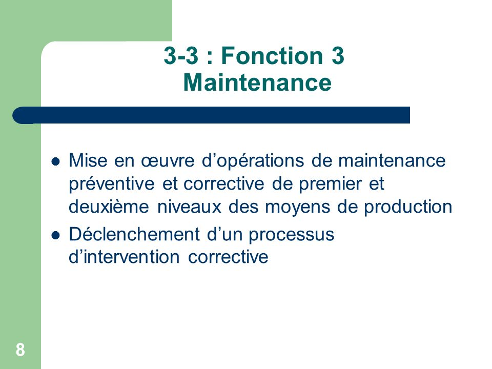 3-3 : Fonction 3 Maintenance