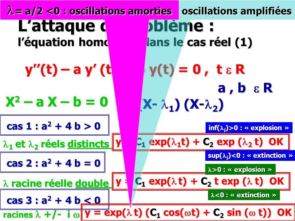 L'attaque du problème : l'équation homogène dans le cas réel (1)