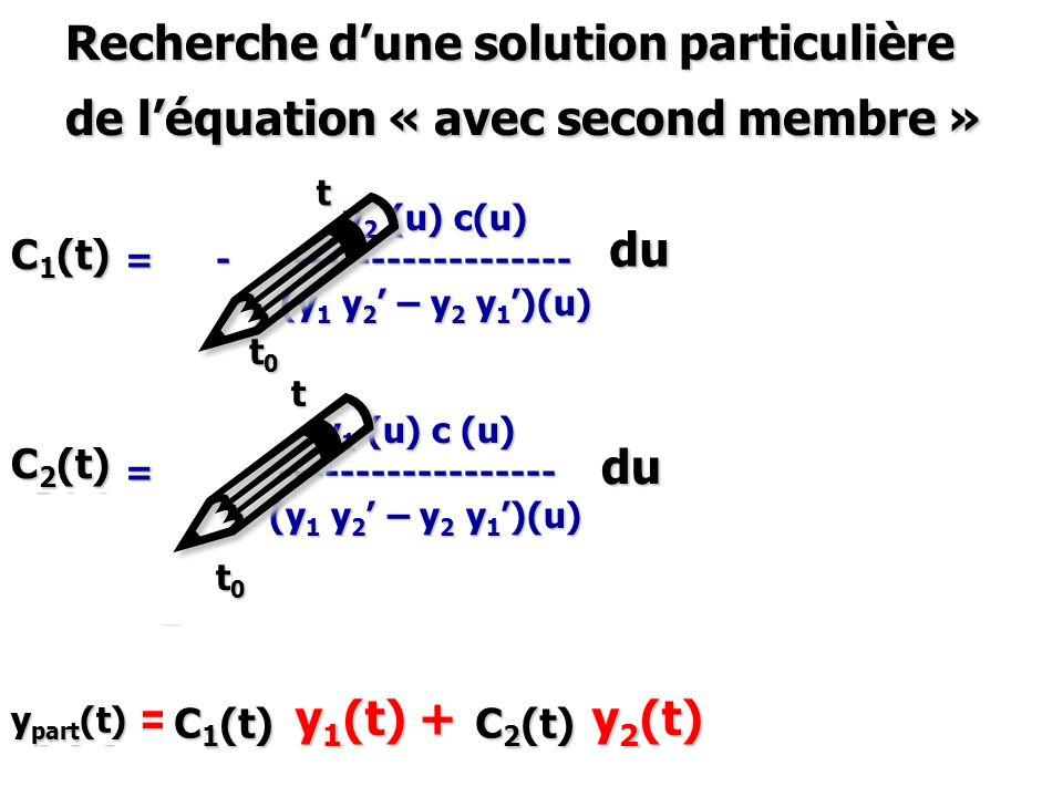 Recherche d'une solution particulière de l'équation « avec second membre »