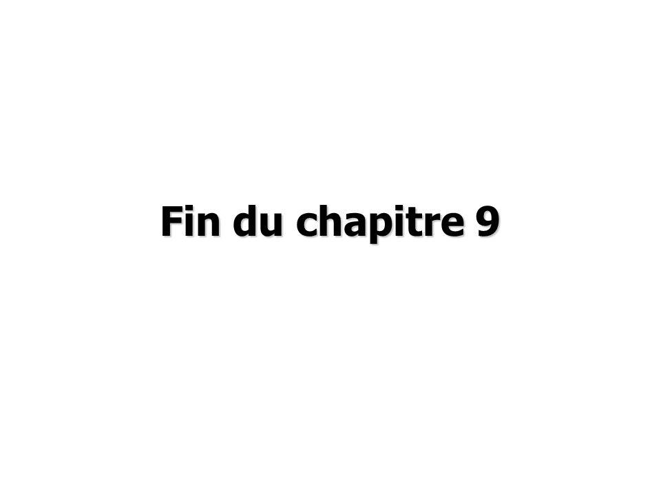 Fin du chapitre 9