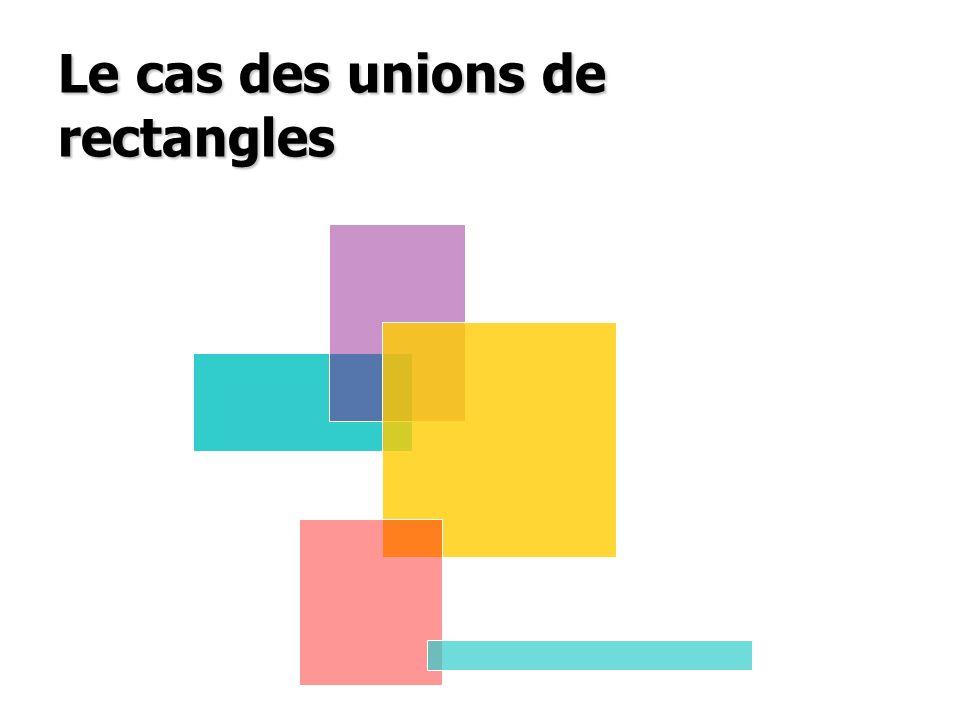 Le cas des unions de rectangles