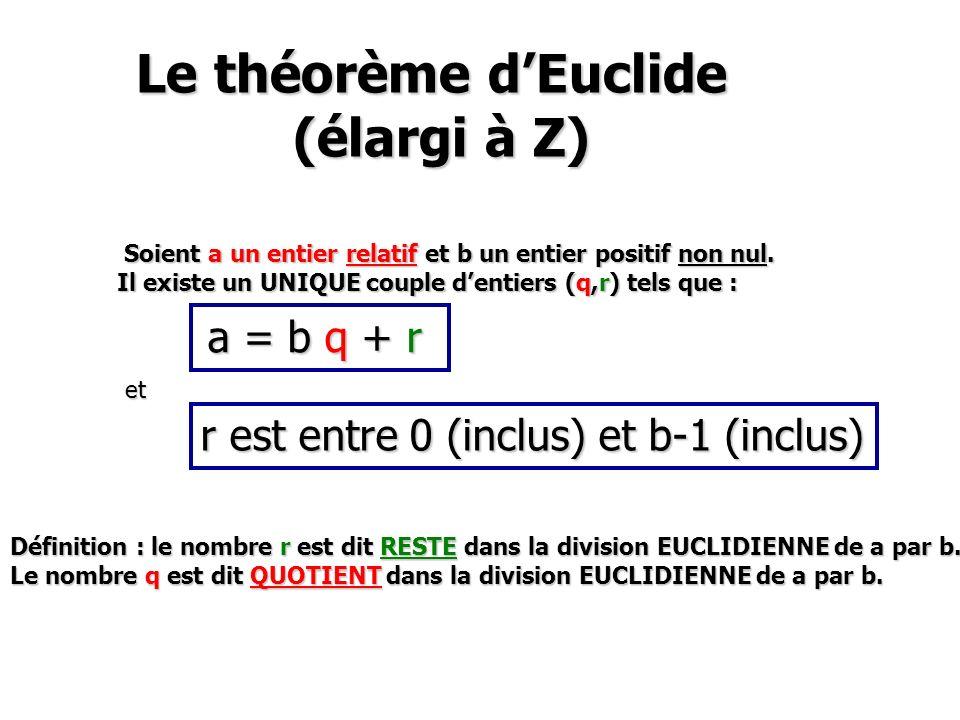 Le théorème d'Euclide (élargi à Z)