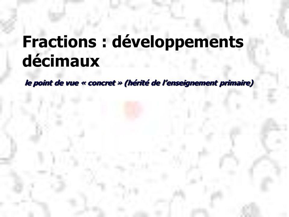 Fractions : développements décimaux