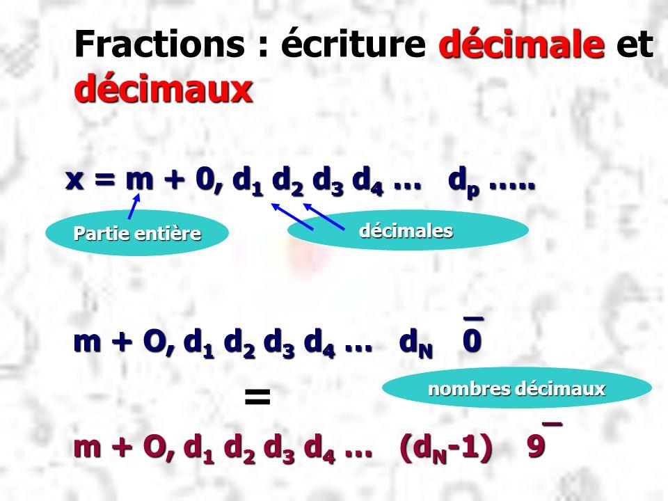 Fractions : écriture décimale et décimaux