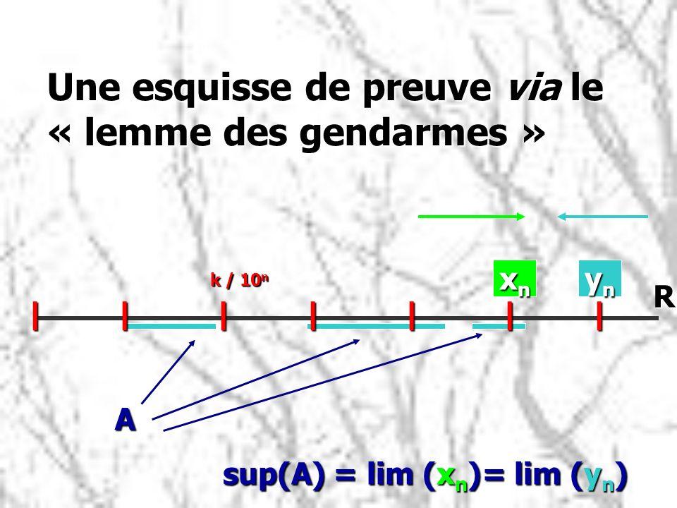Une esquisse de preuve via le « lemme des gendarmes »