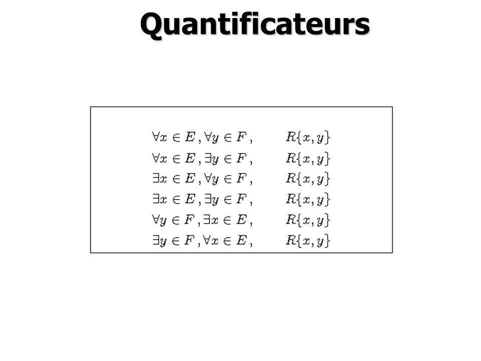 Quantificateurs