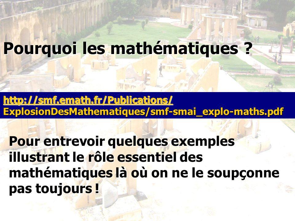 Pourquoi les mathématiques