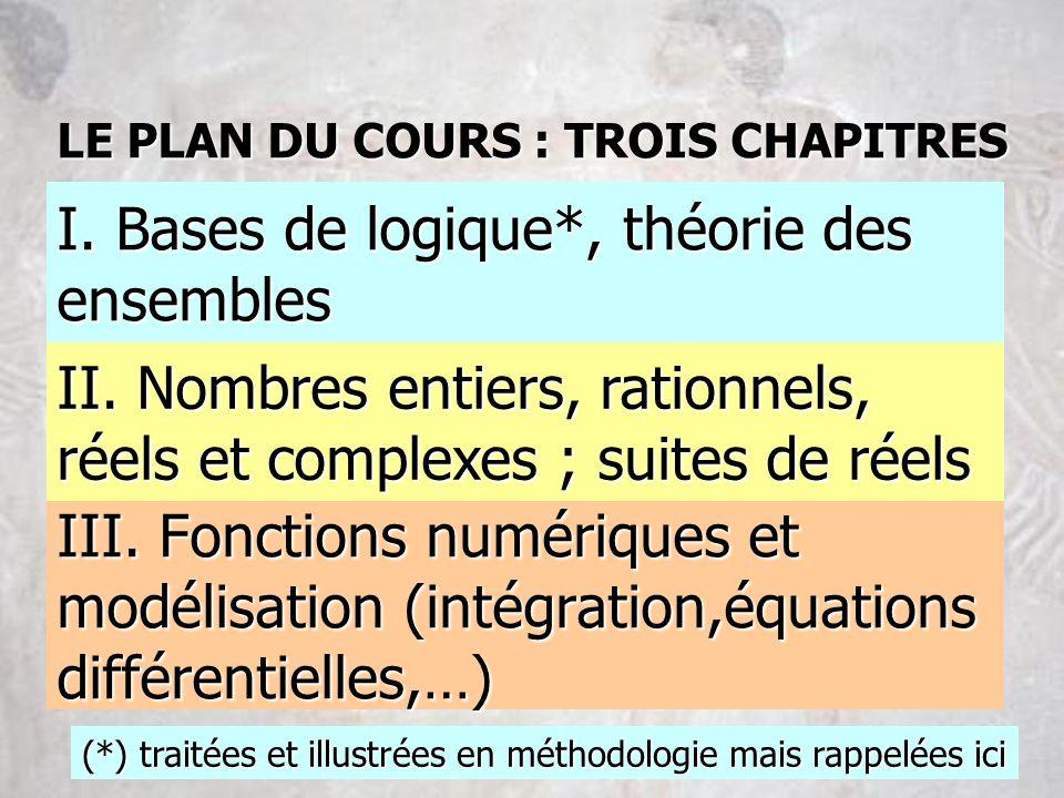 I. Bases de logique*, théorie des ensembles