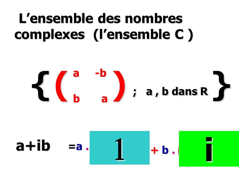 L'ensemble des nombres complexes (l'ensemble C )