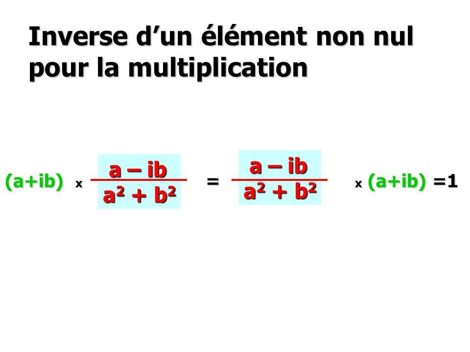 Inverse d'un élément non nul pour la multiplication