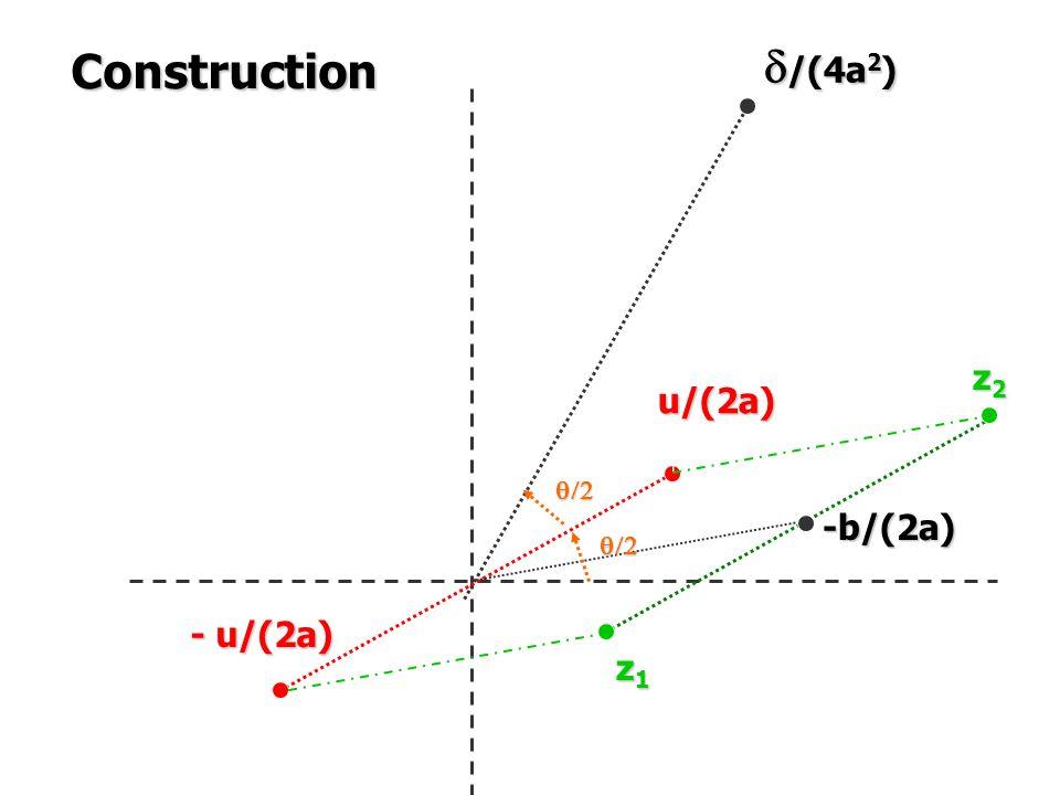 Construction d/(4a2) z2 u/(2a) q/2 -b/(2a) q/2 - u/(2a) z1