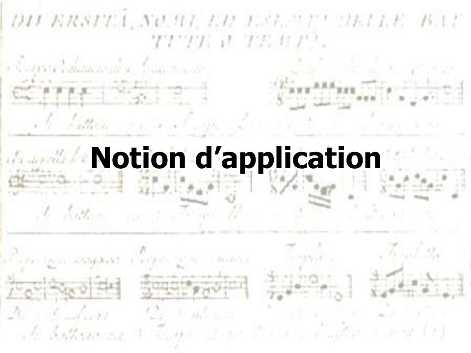 Notion d'application