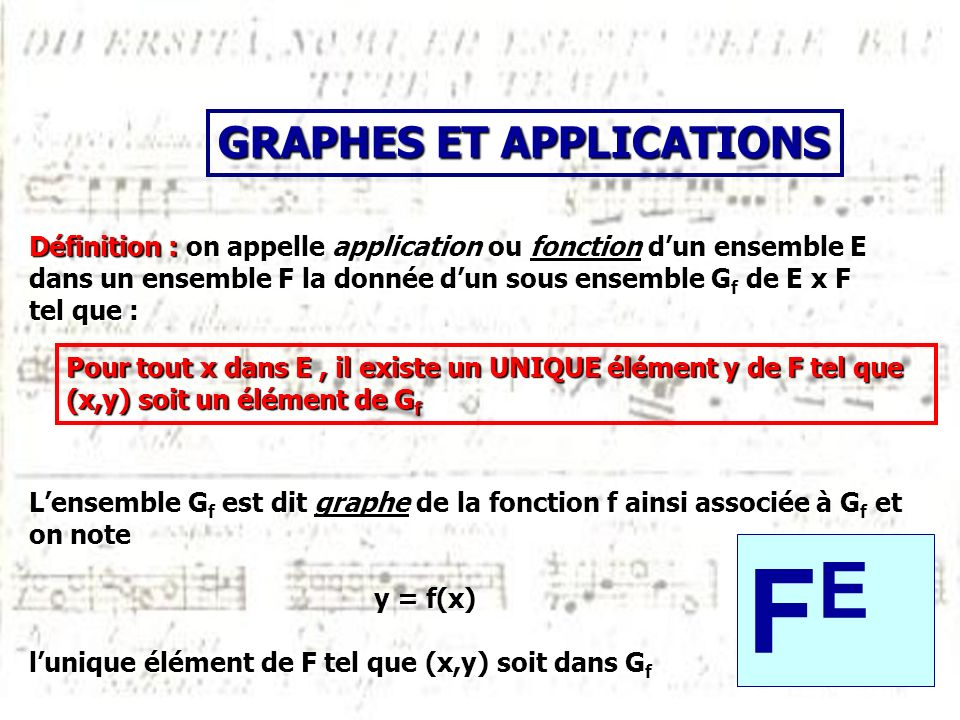 FE GRAPHES ET APPLICATIONS