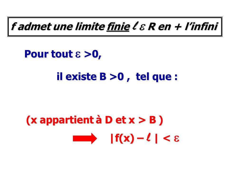 f admet une limite finie l e R en + l'infini