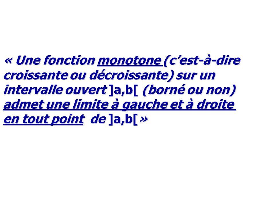 « Une fonction monotone (c'est-à-dire