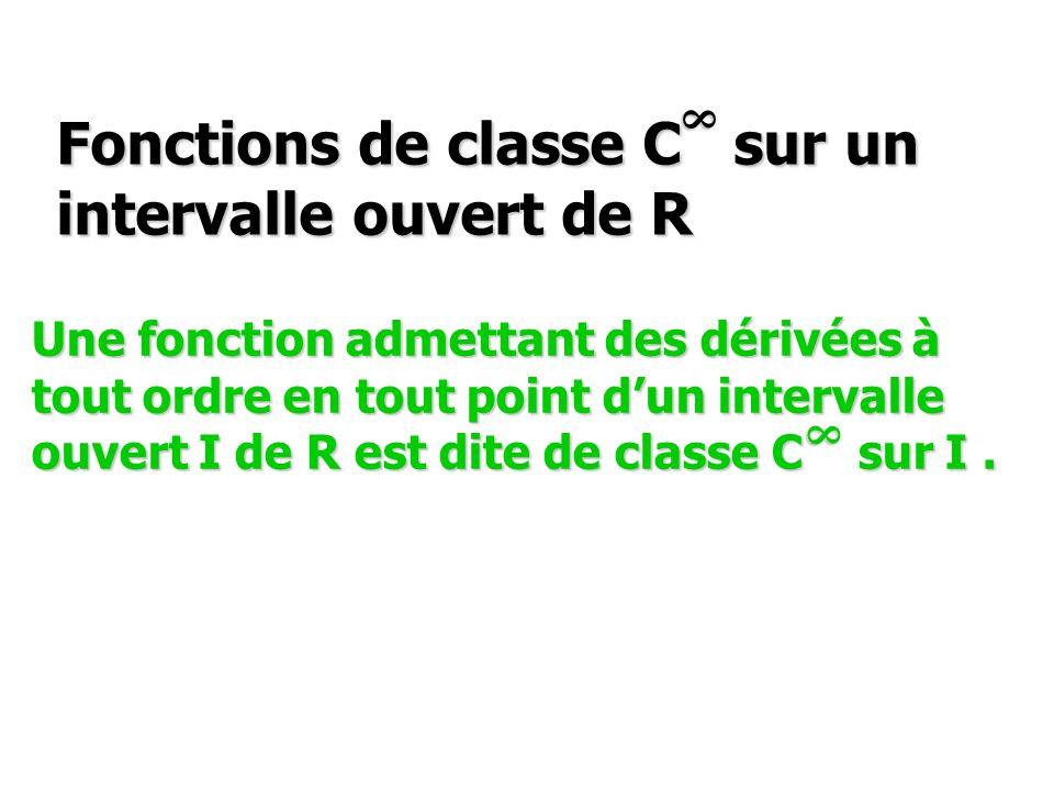 Fonctions de classe C sur un intervalle ouvert de R