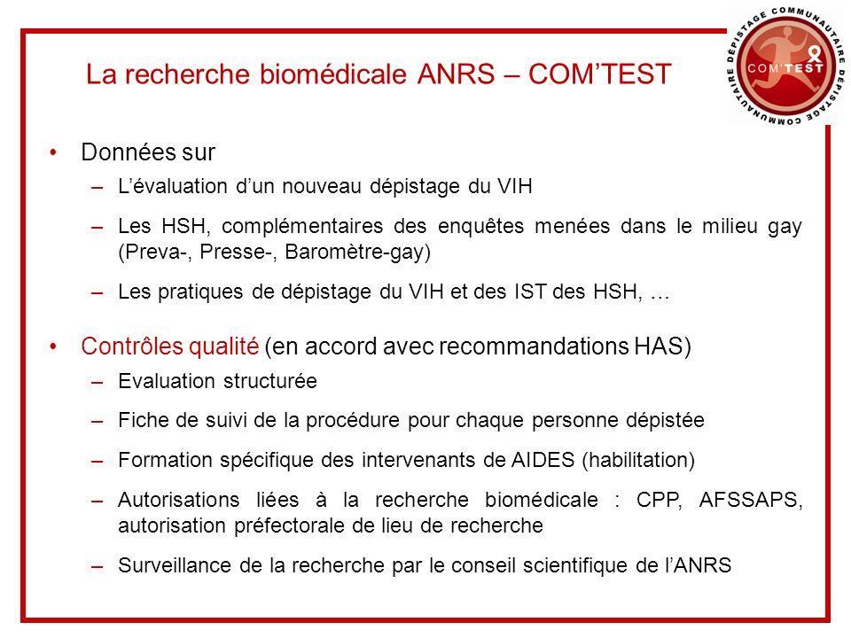 La recherche biomédicale ANRS – COM'TEST