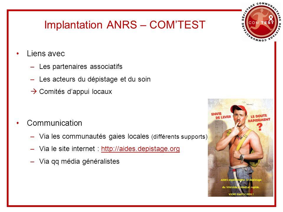 Implantation ANRS – COM'TEST