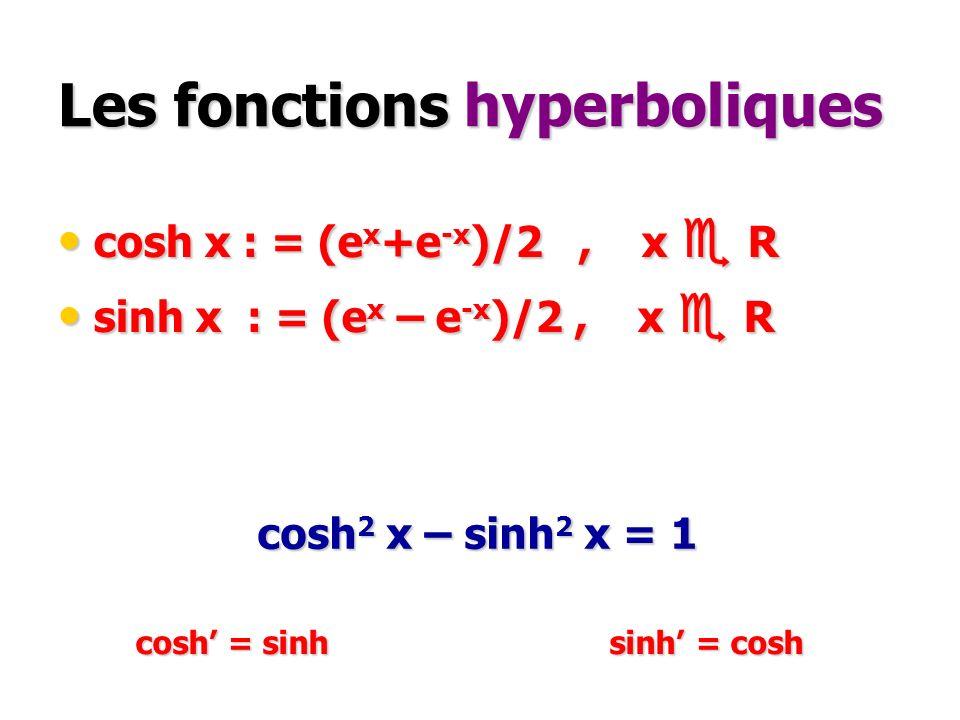 Les fonctions hyperboliques