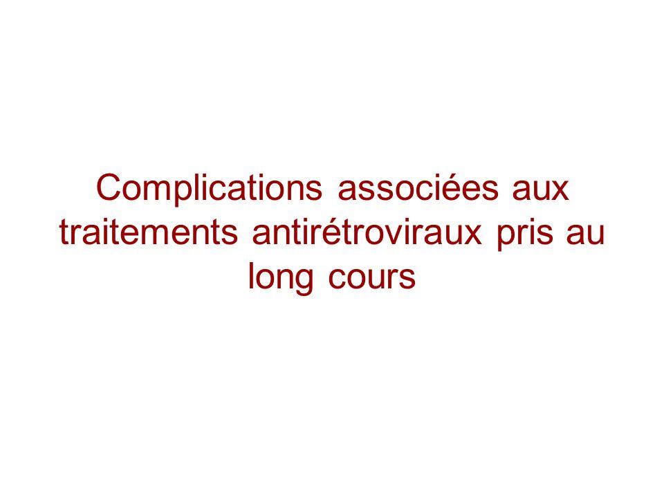 Complications associées aux traitements antirétroviraux pris au long cours