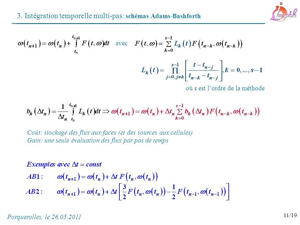 3. Intégration temporelle multi-pas: schémas Adams-Bashforth