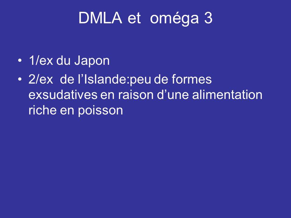 DMLA et oméga 3 1/ex du Japon
