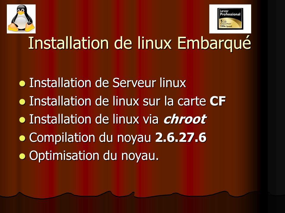 Installation de linux Embarqué