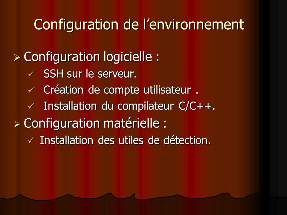 Configuration de l'environnement