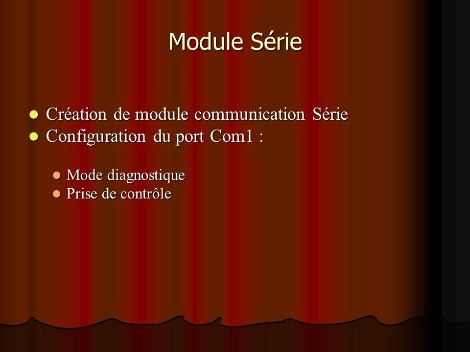 Module Série Création de module communication Série