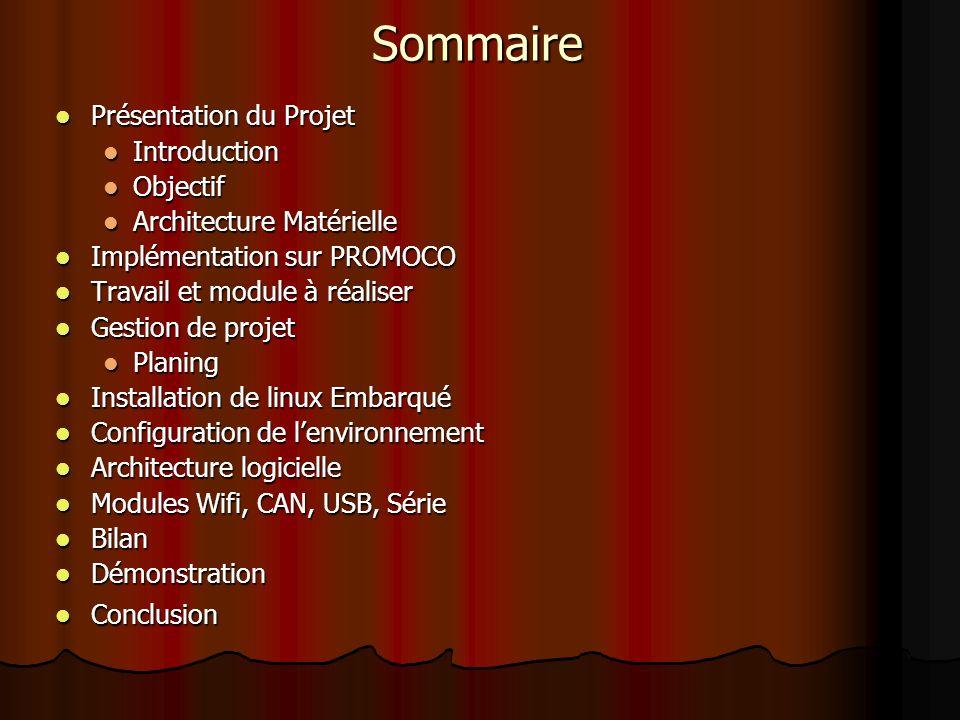 Sommaire Présentation du Projet Introduction Objectif