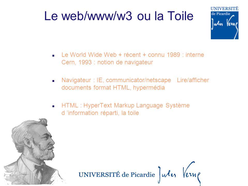 Le web/www/w3 ou la Toile