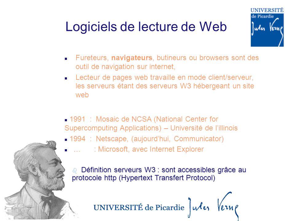 Logiciels de lecture de Web